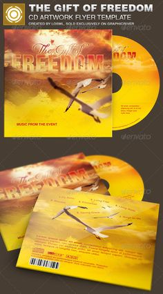 The Gift of Freedom CD Artwork Template is sold exclusively on graphicriver, it can be used for your Church Events, Sermons, Gospe