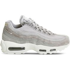 19b6f198c2a10 Nike Air Max 95 leather trainers (180 AUD) ❤ liked on Polyvore featuring  shoes, sneakers, lightweight shoes, nike sneakers, real leather shoes, ...