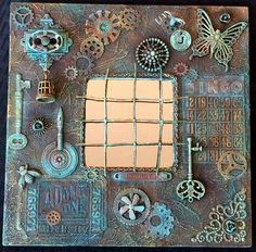This rusted technique IKEA mirror was done for DecoArt Mixed Media blog.  The complete tutorial can be found here: http://decoart.com/mixedmediablog/project/441/rusted_mirror