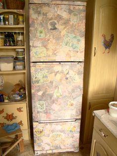Декорируем холодильник под натуральный камень