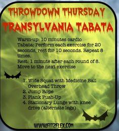 Fit2Flex*: ThrowDown Thursday - Tabata workout that can be done in 20 minutes with just a medicine ball via @CarissaAnneB