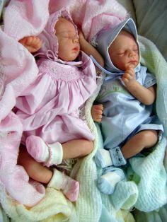 NEWBORN TWINS!!! Reborn Baby art doll Elias & Caroline by Tina Kewy LTD 119/1000