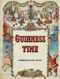 Guinness Time Christmas I love this! Vintage Advertisements, Vintage Ads, Vintage Posters, Vintage Prints, Vintage Christmas Cards, Retro Christmas, Guinness Advert, Beer Advertisement, Advertising Signs