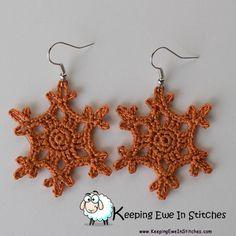 Harvest #pumpkin #Snowflake #earrings #pumpkinSpice #KeepingEweInStitches