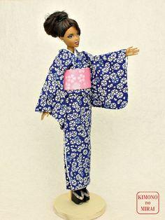 Free shipping! Japanese KIMONO dress,Barbie,Poppy Parker,FR NIPPON Green #KIMONOnoMIRAI