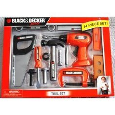 Black & Decker Jr. Tool Set 14pc Hammer Saw Screwdriver by Black & Decker. $14.93. Black & Decker Jr.Childrens Play Toy Tool Set - 2 poundsManufacturer Recomended Age: 3 years and up. Save 84% Off!