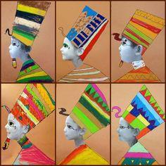 art for kids Egyptian - kunst für kinder ägypter Ancient Egypt Activities, Ancient Egypt Crafts, Ancient Egypt For Kids, Egyptian Crafts, Egyptian Art, Egyptian Pharaohs, Egyptian Jewelry, Ancient Aliens, Ancient Egypt Lessons