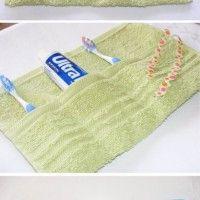 Towel bathroom travel storage