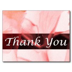 Thank You Postcard Designed from Cards by Janz