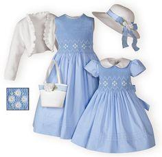 Sweetly Spring girls' hand-smocked Easter dresses. #matchingsisterdresses #girlseasterdresses