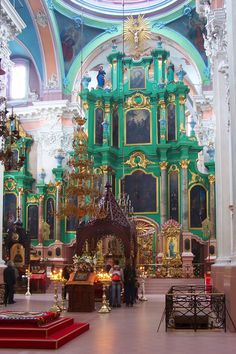 Church of the Holy Spirit Interior. Vilnius, LITHUANIA.