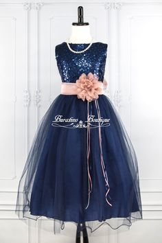 Brand New Sequin Double Mesh Flower Girl Party Dress sizes 12m to 14 An absolutely gorgeous Flower Girl dress for your girl. This sleeveless