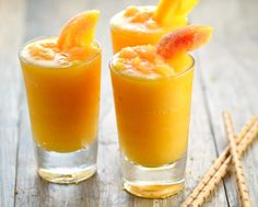 I adore. I adore frozen peach bellini's and this recipe is very close to my favorite restaurant's drink. Another cooking website is where I found and adapted this recipe from. Frozen Drink Recipes, Frozen Cocktails, Alcohol Drink Recipes, Punch Recipes, Peach Drinks, Summer Drinks, Fun Drinks, Beverages, Cocktail Drinks