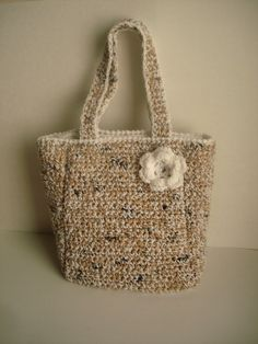 sale 20% off- Bag crocheted with recycled bags and yarn. , via Etsy.