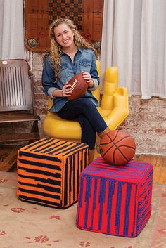 Crochet Patterns Galore - Sports Fever Footrest