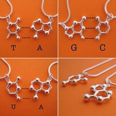 DNA/RNA friendship necklaces.... because the bonds of friendship should be at least as strong as hydrogen bonds?