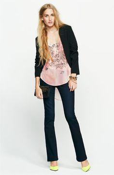 Frenchi® Blazer, Lush Tank & See Thru Soul Jeans   Nordstrom