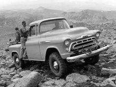 Very rare NAPCO 4 Wheel Drive, 1957 Chevy