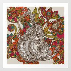 Paradise Bird Art Print by Valentina - $18.00