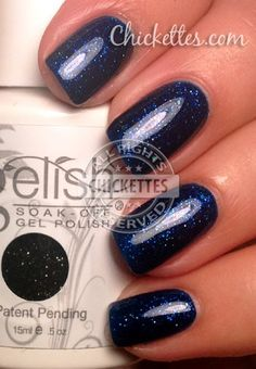 Gelish Holiday Party Blues Color Swatch
