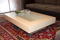 Tavolino su misura - laccato e vetro #moderno