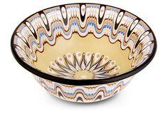 Sunflower Mandala Soup Bowl on OneKingsLane.com $40 sale $16