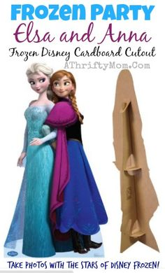 FROZEN party Idea, disney lifesized FROZEN Anna and Elsa, Frozen Party ideas #Frozen, #Disney