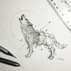 Geometric Beasts | Wolf by Kerbyrosanes