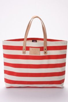 Will Leather Goods Bright Carry-All Bag in Red Stripe Best Beach Bag, Carry All Bag, Best Bags, Beach Tote Bags, Summer Bags, Everyday Fashion, Purses And Bags, My Style, Trendy Style