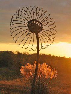 "sculpted ""flower"" at sunset"