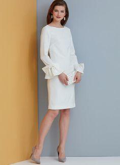 V9325 | Misses' Dress | Vogue Patterns Vogue Sewing Patterns, Clothing Patterns, Dress Patterns, Easy Patterns, Paper Patterns, Clothing Ideas, Stylish Dresses, Simple Dresses, Dresses With Sleeves