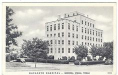 Vintage Nazareth Hospital, Mineral Wells, Texas TX Postcard