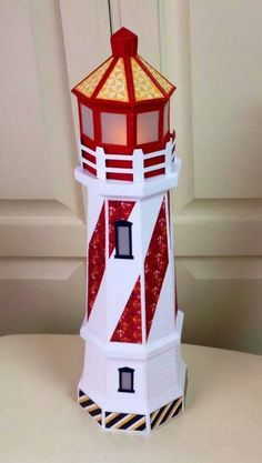 How to make a paper lighthouse lighthouse craft and school lighthouse by deneise edgin moulin ctmh tommy paper and svg cuts pronofoot35fo Choice Image