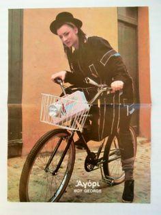 Boy George Bruce Springsteen Double Side Mini Poster 1980's Greek Magazine   eBay