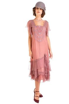 Alexa Flapper Style Dress in Mauve by Nataya Vintage Informal Wedding Dresses Romantic Gowns Mother of the Bride or Groom Dresses Second Wedding Dresses Vintag. Vintage Style Bridesmaid Dresses, Flapper Style Dresses, 1920s Fashion Dresses, Informal Wedding Dresses, 20s Dresses, 1920s Dress, Vintage Inspired Dresses, Vintage Dresses, Vintage Fashion