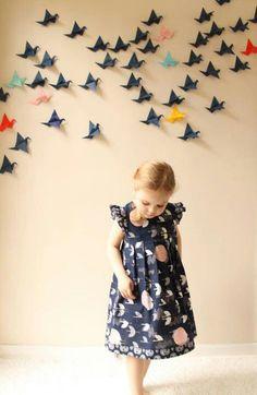 Origami cranes & cute dress