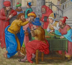 Judas Receiving the Thirty Pieces of Silver, Simon Bening, about 1525-30