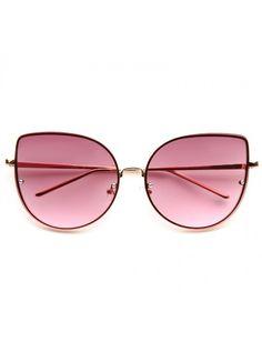 Cheap Cat Eye Sunglasses | Lexi Designer Inspired Metal Cat Eye Sunglasses | BleuDame.com Cheap Sunglasses, Cat Eye Sunglasses, Round Sunglasses, Fake Glasses, Optical Frames, Design Inspiration, Metal, Fashion, Moda