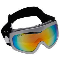 Molosilver snow goggles with soft padding for extra comfort and a stretchy adjustable strap that fits around the head and features the designer's signature star print. With cool, mirrored rainbow lenses, they offer maximum UV protection against the sun and glare of the slopes. <ul> <li>100% polyurethane</li> <li>Stretchy adjustable strap</li> <li>Conforms to BS EN 174-2001</li> <li>Comes with a storage bag</li> <li>Suitable for ages 2-14 years</li> <li>Suitable for both boys and ...