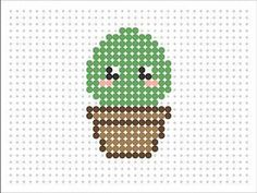 Perler Video - Pixel Art - Sprite - Amiga Game and Soundtrack Hama Bead Kawaii Baby Cactus (Kawaii Series 2 Perler Bead Designs, Hama Beads Design, Diy Perler Beads, Pearler Bead Patterns, Perler Bead Art, Perler Patterns, Mosaico Lego, Slime, Hama Beads Kawaii