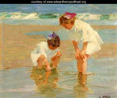 Girls Playing in Surf - Edward Henry Potthast - www.edwardhenrypotthast.org