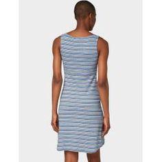 Tom Tailor Damen Gestreiftes Kleid, blau, gestreift, Gr.46 Tom TailorTom Tailor