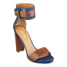 "Our Watkins ankle strap sandals feature a 3/4"" platform a sassy heel and an ankle strap with adjustable buckle closure. Padded footbed for all-day comfort. Leather and man-made upper. Man-made lining and sole. Imported. 3/4"" platform. 4 1/2"" high heels."
