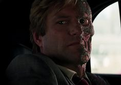 Aaron Eckhart as Harvey Dent/Two-Face in The Dark Knight