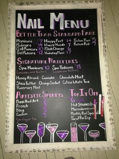 Nail Service menu idea