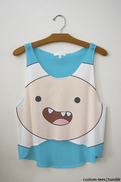 #finn , crop top , adventure time ,