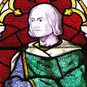 Richard of Conisburgh, 3rd Earl of Cambridge was the second son of Edmund of Langley, 1st Duke of York, and Isabella of Castile. At the age of thirty he was beheaded for his part in the Southampton plot, a conspiracy against King Henry V. He was the father of Richard Plantagenet, 3rd Duke of York, and the grandfather of King Edward IV and King Richard III.