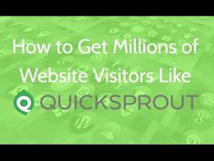 How to get millions of website visitors like Quicksprout. Go to http://ift.tt/1ltodHp for video notes related content and helpful resources mentioned.   Let's Connect! Twitter - https://twitter.com/MrJustinBryant  Facebook - http://ift.tt/1LQomnx  Google - http://ift.tt/1PaQTrN  In this video you will learn how to get millions of website visitors like Quicksprout (the popular marketing blog by Neil Patel) gets.  If you follow Neil Patel and his website Quicksprout you probably have noticed…