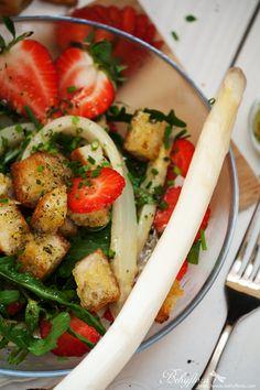 Behyflora... la vie en rose: {Gesund & Lecker} Erdbeer-Spargelsalat mit Rucola - Salad with strawberries and asparagus