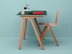 Hay Copenhague Desk with Conifer Green Linoleum finish. I love this green it reminds me of a cutting mat!  The Copenhague Desk is a stylish and contemporary desk designed by Ronan and Erwan Bouroullec for Hay. It is part of a collection of furniture which has been designed for the University of Copenhagen.  http://www.nest.co.uk/product/hay-copenhague-desk